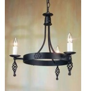 Belfry 3 Light Chandelier Black