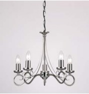 180-5As 5 Light Pendant Fitting Only - Antique Silver