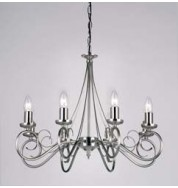 180-8As 8 Light Pendant Fitting Only - Antique Silver