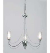 410-3Ch 3 Light Pendant - Chrome