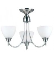 1805-3Sc 3 Light Pendant - Satin Chrome