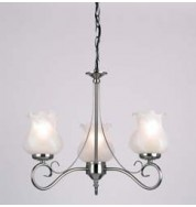 180-3As 3 Light Pendant Fitting Only - Antique Silver