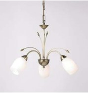 2007-3An 3 Light Pendant - Antique Brass
