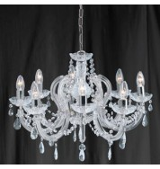 8 LIGHT MARIE THERESE CHROME FITTING