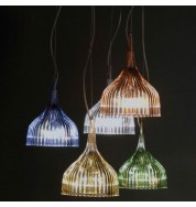 E Pendant - Transparent Light Blue