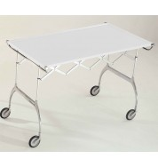 Batista Folding Trolley - Glossy White