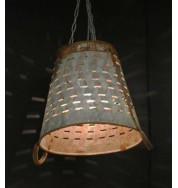 Salvage Bucket Pendant (patina metal)