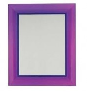 Francoise Ghost Mirror Large - Transparent Purple