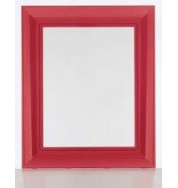 Francoise Ghost Mirror Large - Transparent Ruby Red