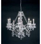 308-8Cl 8 Light Pendant - Clear