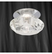 1 LIGHT CHROME RECESSED FITTING CLEAR DIAMOND GLASS