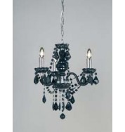 308-3Bl 3 Light Pendant - Black