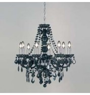 308-8Bl 8 Light Pendant - Black