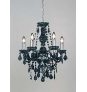 308-5Bl 5 Light Pendant Black