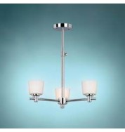 Binstead Bathroom Collection 3 Light Lamp Ceiling Light Silver