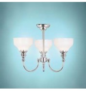 Cheadle Bathroom Collection 3 Lamp Ceiling Light Silver