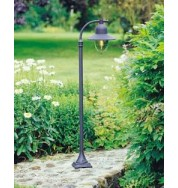 Como 1 Lamp Pillar Lantern Black