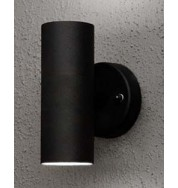 Modena Up + Down Outdoor Wall Washer Light - Black