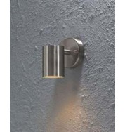 Modena Down Outdoor Wall Washer Light - Stainless Steel