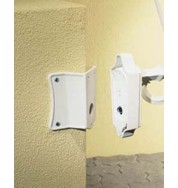 Corner Bracket For Outdoor Lights - White