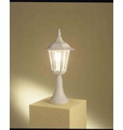 Forli Outdoor Post Light - White
