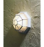 Wall/Roof Lamp Outdoor Bulkhead Light - White