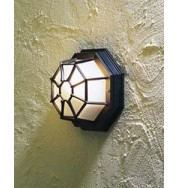 Wall/Roof Lamp Outdoor Bulkhead Light - Black