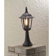 Forli Outdoor Post Light - Black