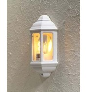 Cagliari Small Flush Outdoor Wall Light - White