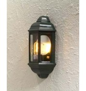 Cagliari Small Flush Outdoor Wall Light - Green