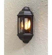 Cagliari Small Flush Outdoor Wall Light - Black