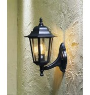 Wall Lamp Large Outdoor Light - Black