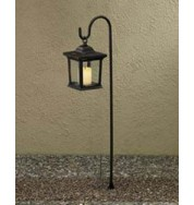Assisi Outdoor Non Electric Square Post Light - Black