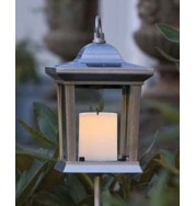 Assisi Outdoor Non Electric Square Post Light - Aluminium