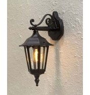 Forli Outdoor Wall Light Down - Black