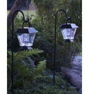Assisi Outdoor Non Electric Square Tapered Post Lights - Set Of 2