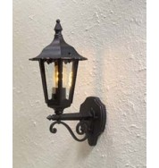 Forli Outdoor Wall Light Up - Black