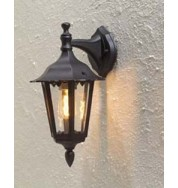 Firenze Small Outdoor Down Wall Light - Black