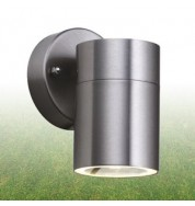 SATIN SILVER OUTDOOR 1 LIGHT WALL BRACKET