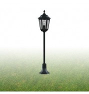 BLACK 1 LIGHT POST LAMP