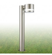 1 LIGHT SATIN SILVER TUBE OUTDOOR POST