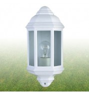 WHITE OUTDOOR WALL LIGHT FLUSH