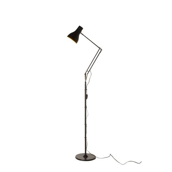 Floor Lamps  Home on Home Lighting Types   Type75 Led Floor Standing Lamp Jet Black