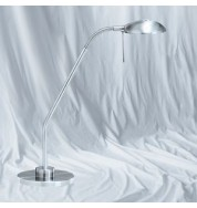 SATIN SILVER HALOGEN FLEXI TABLE LAMP