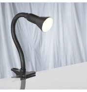 BLACK FLEX CLIP TASK LAMP