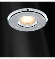 IP65 CHROME BATHROOM DOWNLIGHT COMPLETE WITH BULB