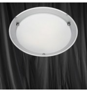 32CM ROUND ETCHED/MIRROR BAND FLUSH