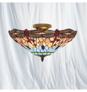 "DRAGONFLY 16"" SEMI-FLUSH UPLIGHTER"