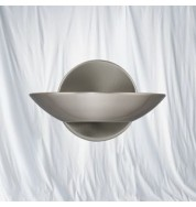 SATIN SILVER HALOGEN UPLIGHTER WALL BRACKET