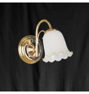 BRASS 1 LIGHT POLISHED BRASS - WALL BRACKET ANGLE GLASS